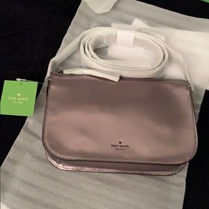 NWT Kate spade metallic cross body purse